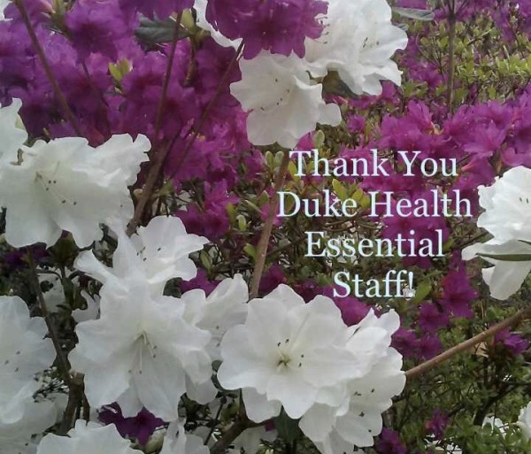 Thank You Duke Health Essential Staff by Anonymous