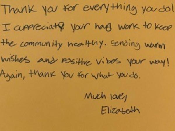 Thank You Message 2 by Elizabeth Boltz