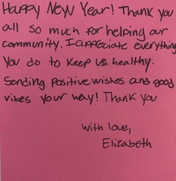 Thank You Message 1 by Elizabeth Boltz