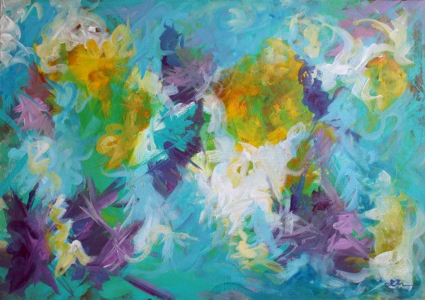 Abstract Irises by Sonya Kleshik