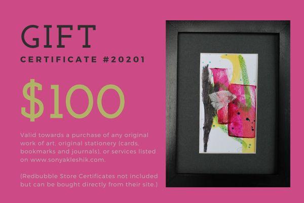 Gift Certificate by Sonya Kleshik