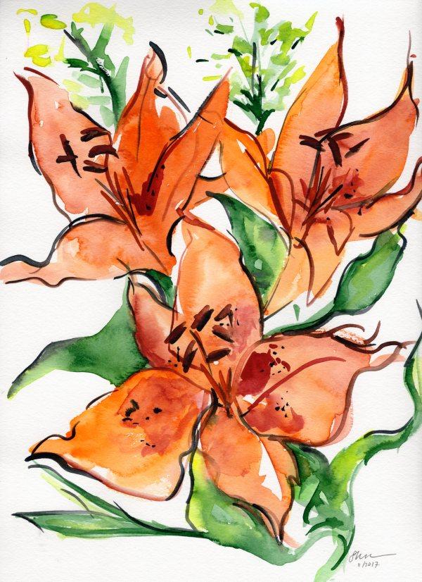 Singing Lilies by Sonya Kleshik