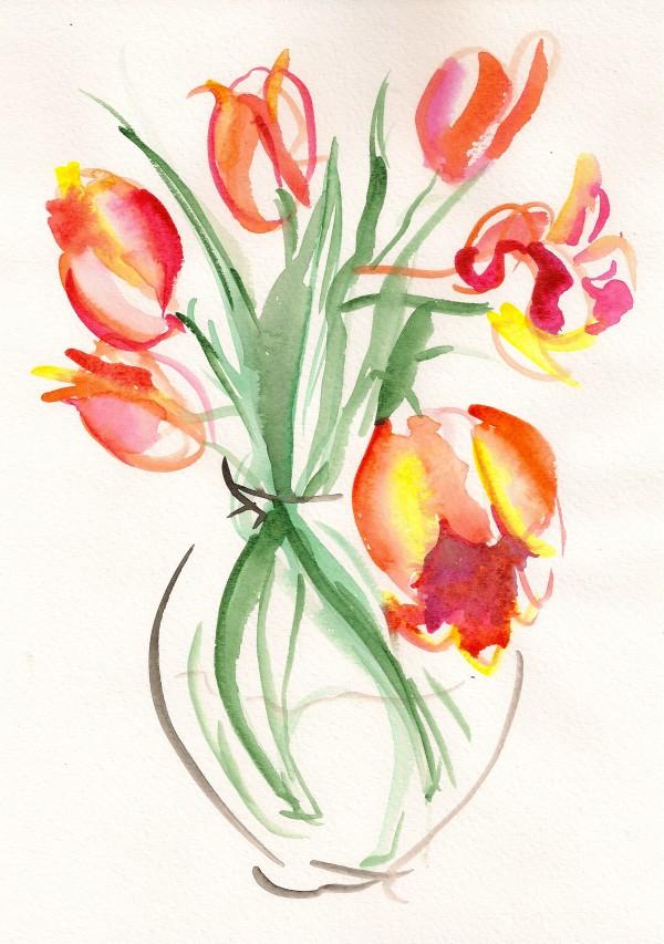 Vase of Tulips by Sonya Kleshik