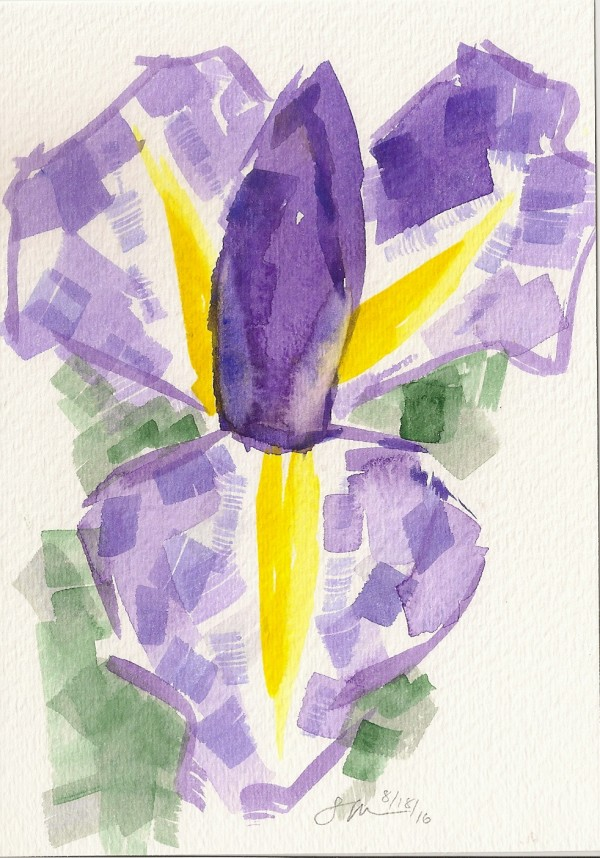 Abstract Iris by Sonya Kleshik