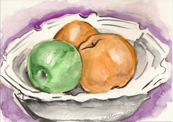 Still Life with Apple and Pears by Sonya Kleshik