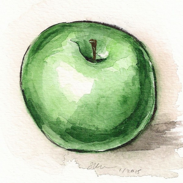 Green Apple by Sonya Kleshik