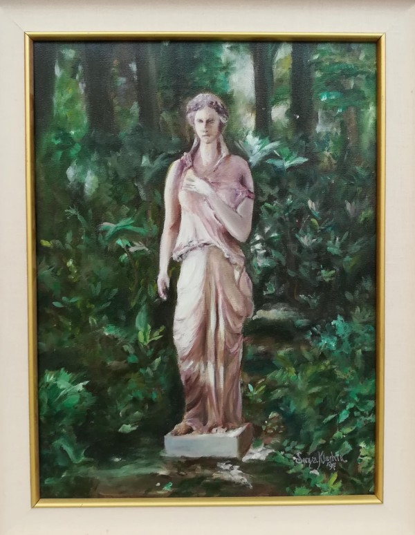 Statue in the Garden by Sonya Kleshik