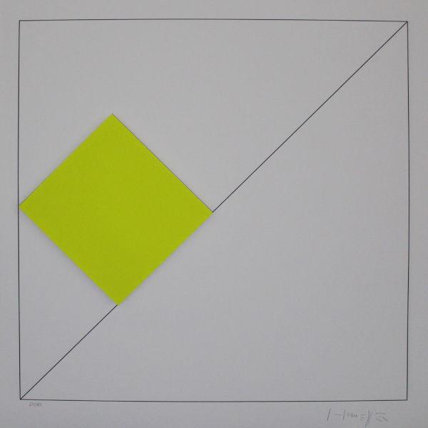 Konkrete Komposition mit Gelb