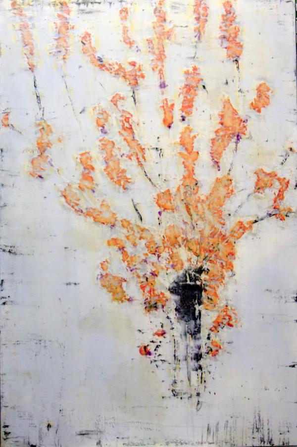 Kaiku Orenji (Orange Blooms) by Bernard Weston