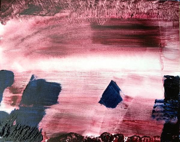 misty coastal boulders by Paige Zirkler