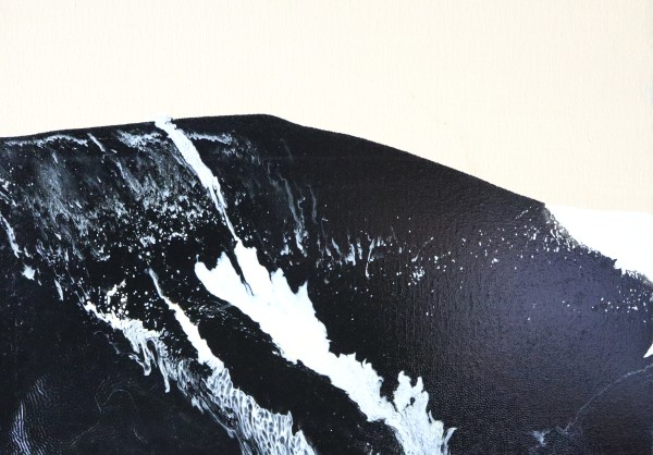 earth mass (tan, black, and white) paintacial by Paige Zirkler