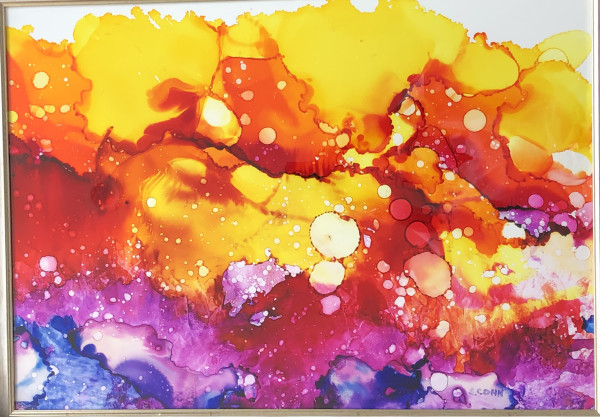 Diptych in Orange by Susan Soffer Cohn