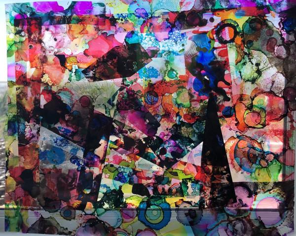 Hanging Collage Circle by Susan Soffer Cohn