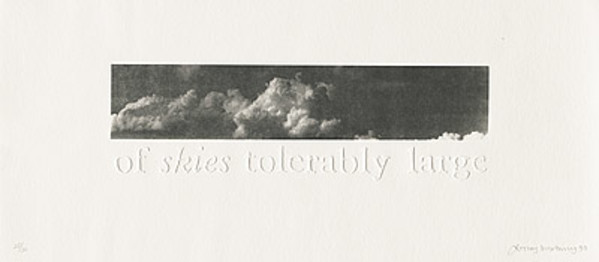 ...of skies tolerably large by Lesley Duxbury