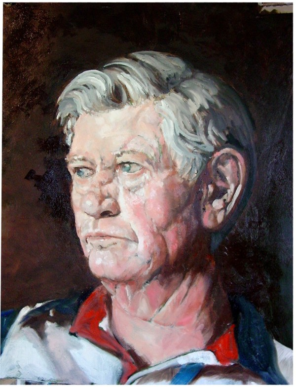 The Patriot (Portrait of Les) by Gary Hoff