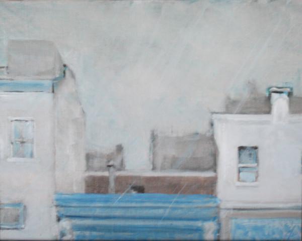 Rooftops, Rain by Gary Hoff
