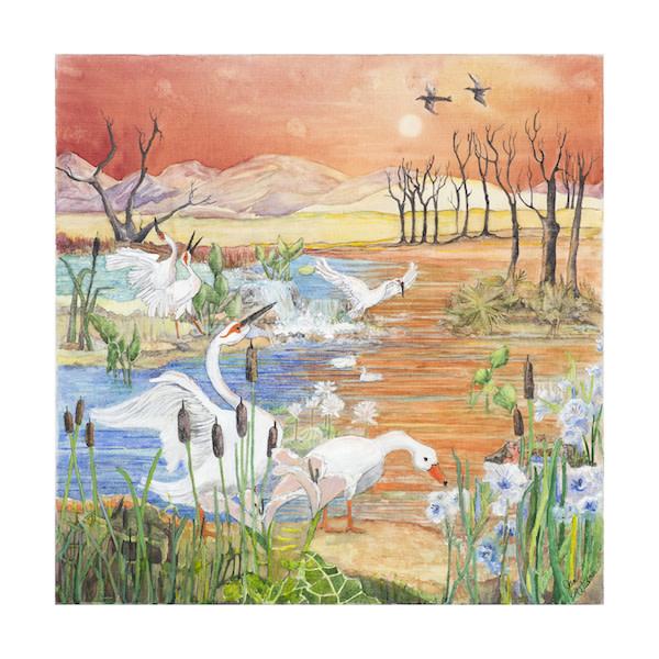 Orange Pond at Sunset by Jan Widner