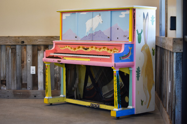 Kimball Junction Transit Center Art Piano by Kylie Millward