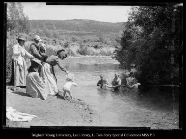 [Paul's First Swim, Chalk Creek] by George Beard