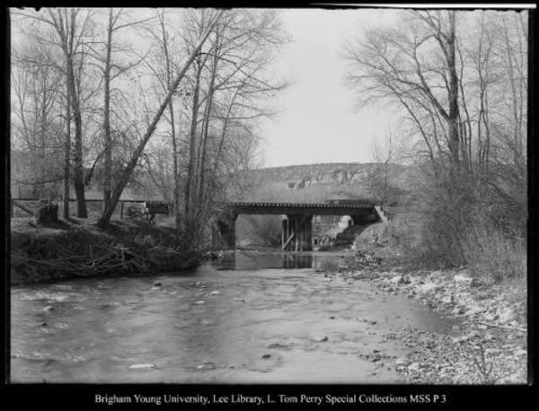 [Rail Road Bridge, Chalk Creek] by George Beard