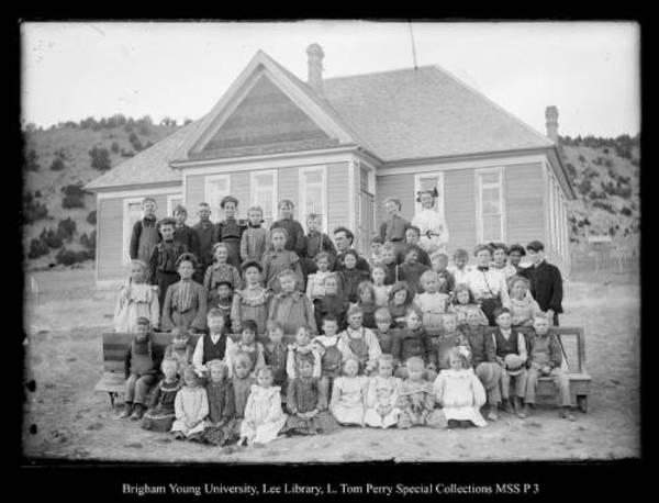 [Coalville's 2 room Schoolhouse; 2 Teachers, 60 Pupils] by George Beard
