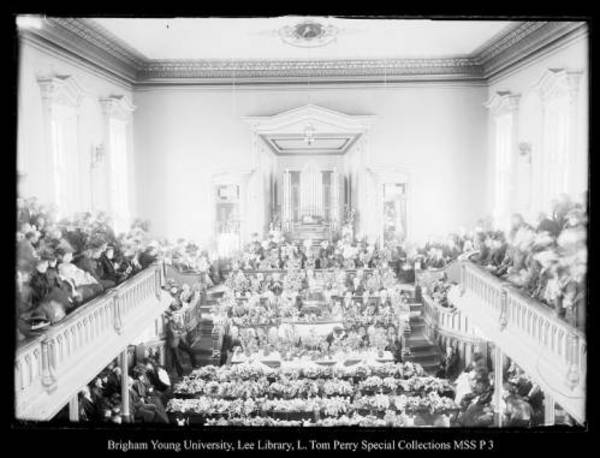 [Funeral Services for Coalville victims of the Scofield Mine disaster of May 1, 1900, held in the Coalville Tabernacle; B. H. Roberts spoke] by George Beard
