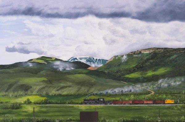 Train Going Through Hoytsville by Cliff Vernon