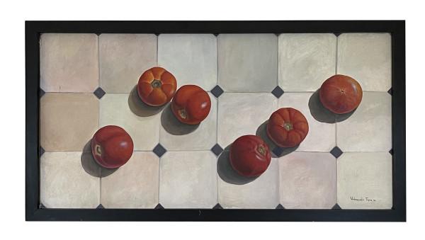 Still Life with Tomatoes (Naturaleza muerta con jitomates) by . Valenzuela Tapia