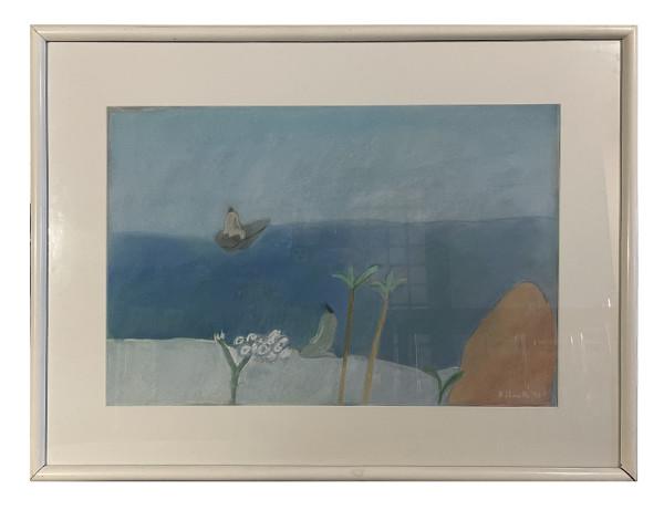 Man Leaving in a Boat (Hombre partiendo en un bote) by Joy Laville