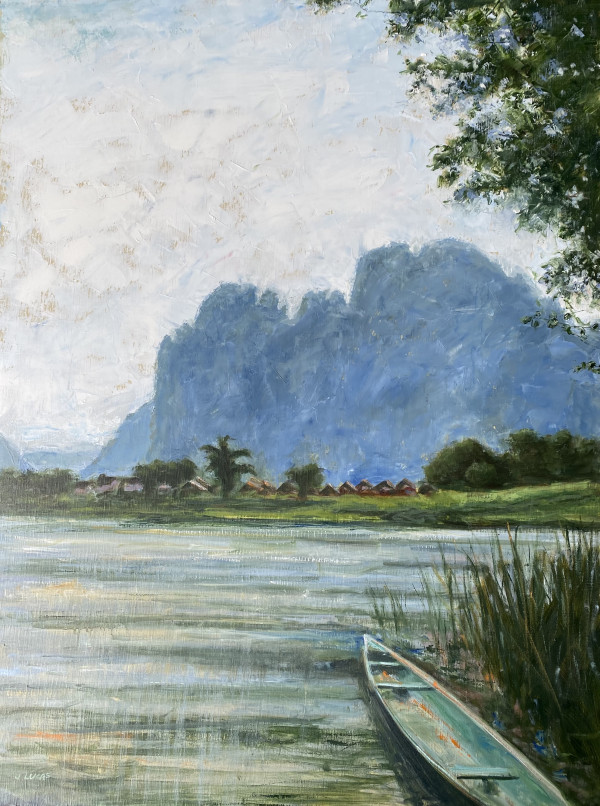 View from Van Vieng by Janet Lucas Beck