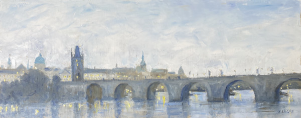 Bridge to Old Town by Janet Lucas Beck