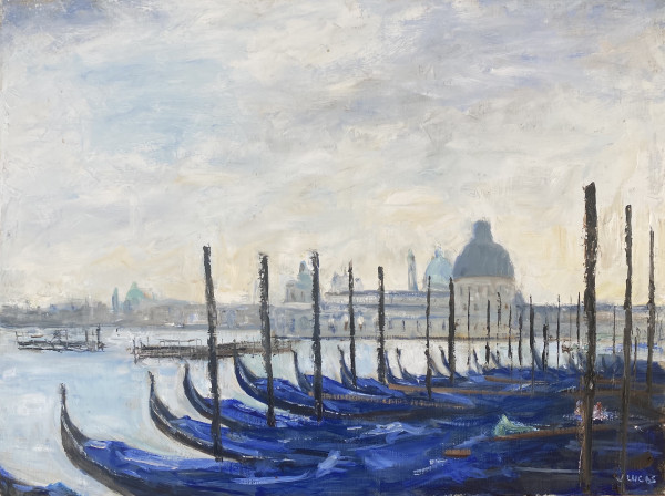 Awaiting the Gondoliers by Janet Lucas Beck