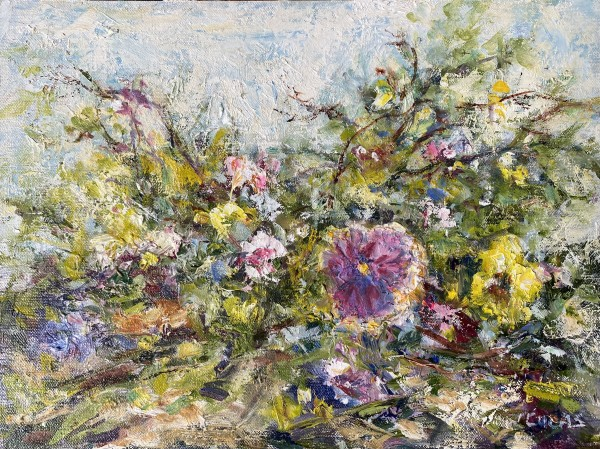Pansies & Violets by Janet Lucas Beck