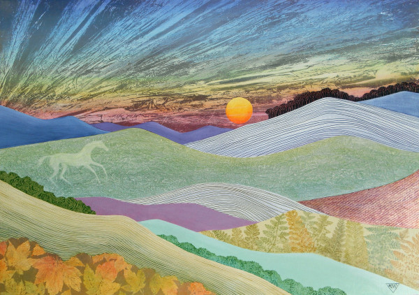 English Downs in Late Autumn by Jennifer Baird