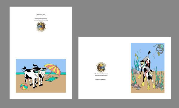 GreetingCard-COW-sizeA6-8pak by Passerina Press