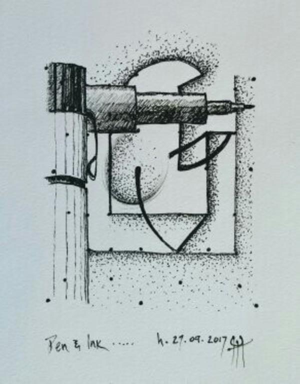 Pen & Ink by HB Barry Strasbourg-Thompson BFA