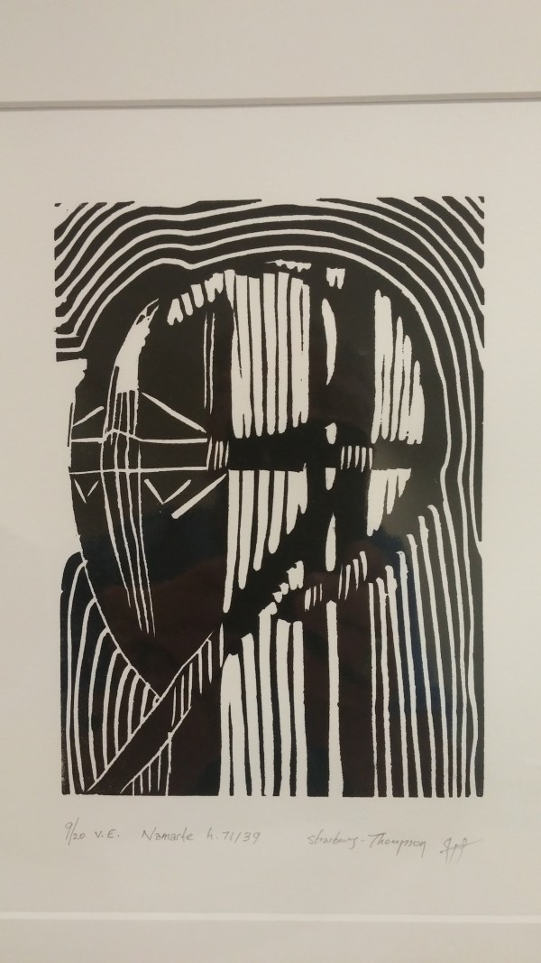 Namaste H71131 -- H71150 Linocuts V.E.  by HB Barry Strasbourg-Thompson BFA
