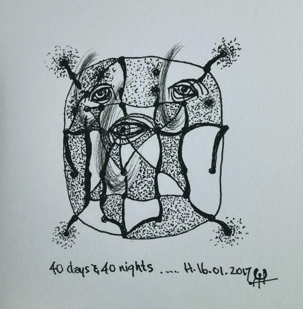 40 days & 40 nights by HB Barry Strasbourg-Thompson BFA