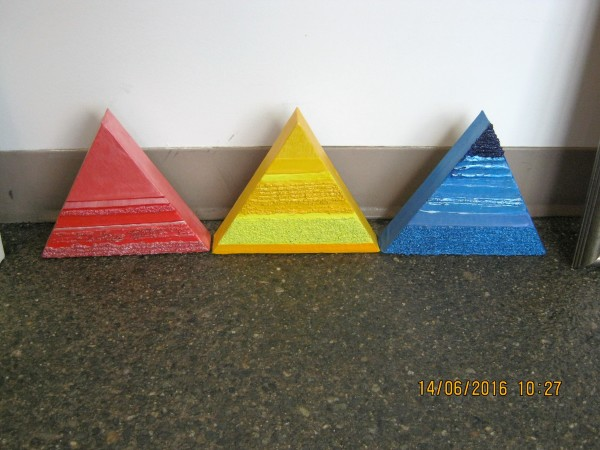 Triptych  Yellow - Red - Blue by HB Barry Strasbourg-Thompson BFA