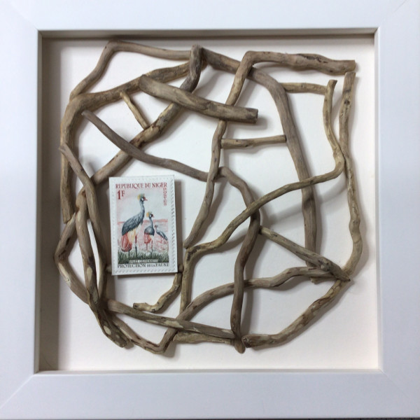 Willow Roots with Birds of Niger by Richard B. Aakre