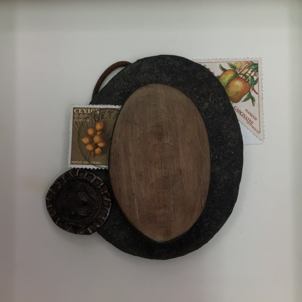 Mango Stamp with Wooden Spoon by Richard B. Aakre