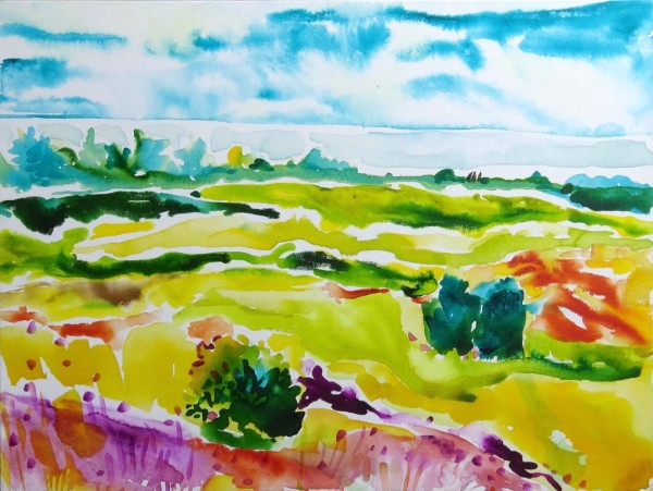 Pond Cove in August by Flora Doehler