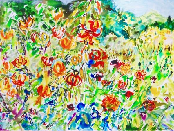 Turk's Cap Lilies by Flora Doehler