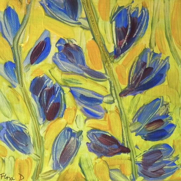 Blue Flowers by Flora Doehler