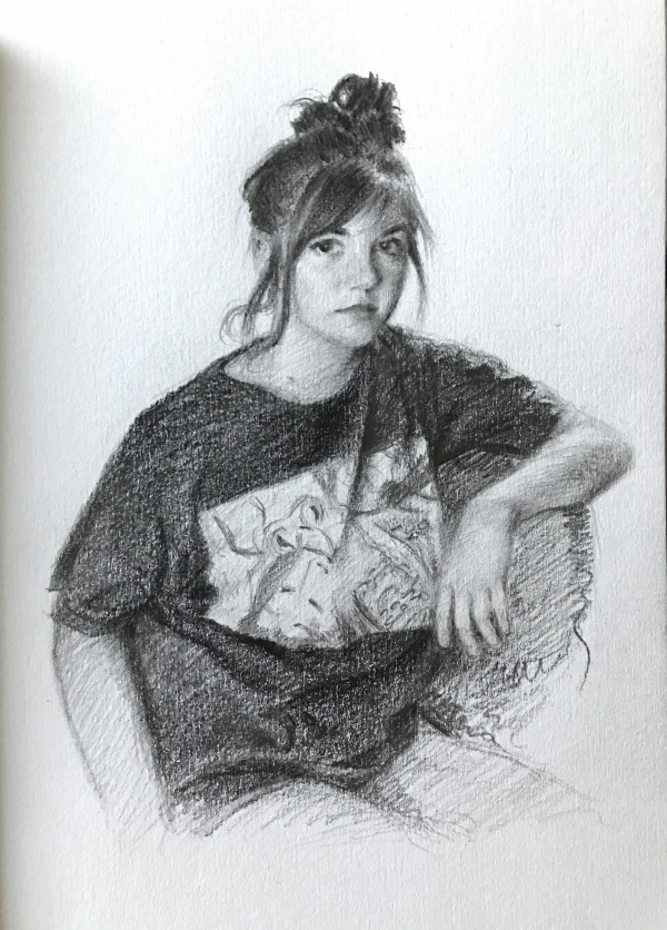 Study for Portrait of Alyssa by Aixa Oliveras