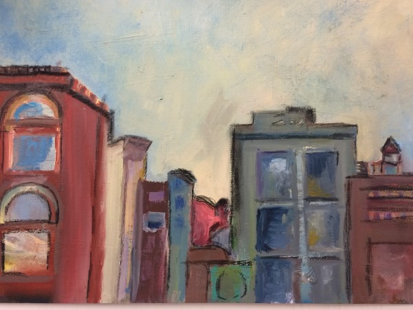 View from Artist Residency North - SOLD  by Susan Grucci