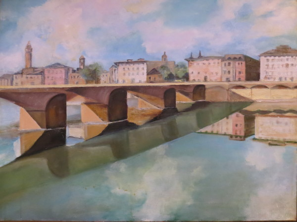 Florence along the Arno by Susan Grucci