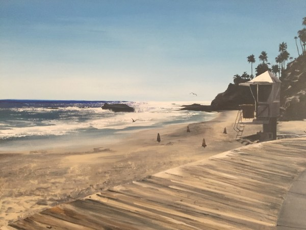 Laguna Beach: 3 Seagulls by Katie Harrell