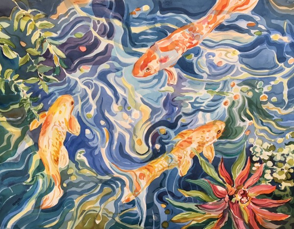 Koi I by Sarah G Schmerl