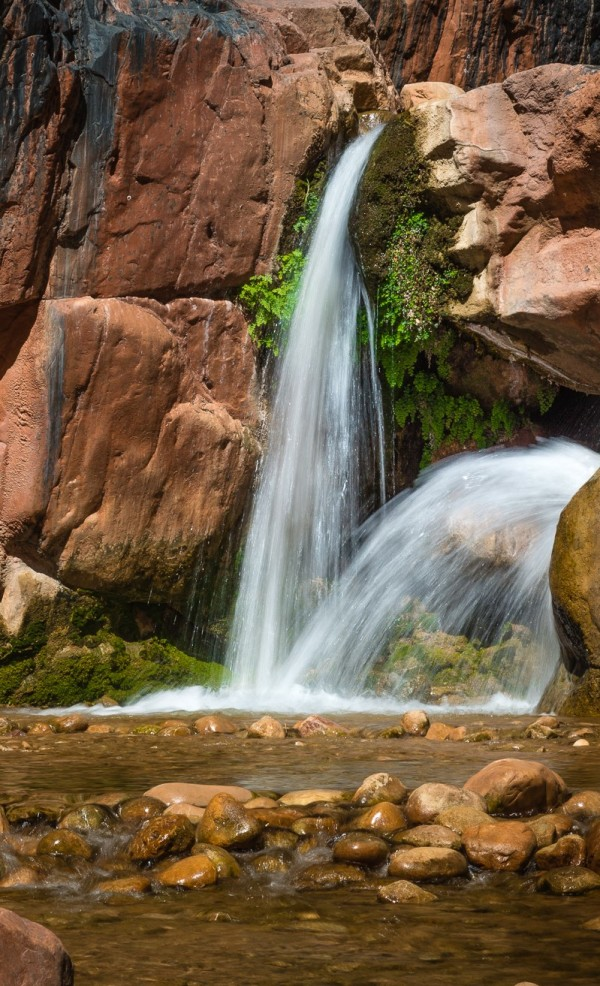 Falls in the Canyon by Larry Simkins